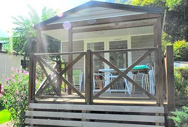 camping pyrenees natura : location mobile home